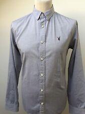 ALL SAINTS Men's REDONDO Shirt GREY Size M MEDIUM Slim Fit