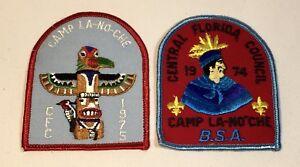 2 Camp La No Che 1974 & 1975 Central Florida Council BSA Patchs Mint Condition