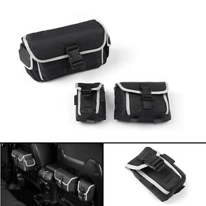 3PCS Rear Seat Storage Organizer Bags For 2018  Wrangler JL Rubicon /A5