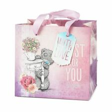 Me to You Small Pink Gift Bag & Tag Open Top Just For You With Love Tatty Teddy