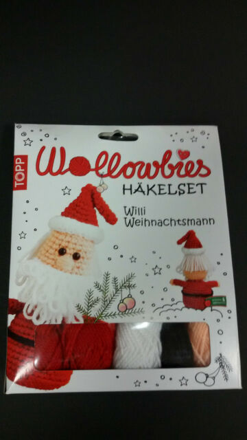 TOPP Wollowbies Häkelset Willi Weihnachtmann Starterset komplett inkl Wolle Neu