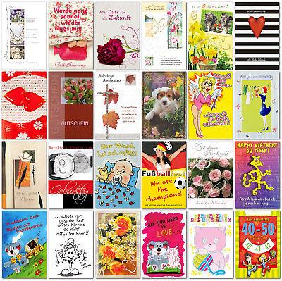 400 Grußkarten diverse Anlässe Klappkarten Karten Umschläge Glückwunschkarten