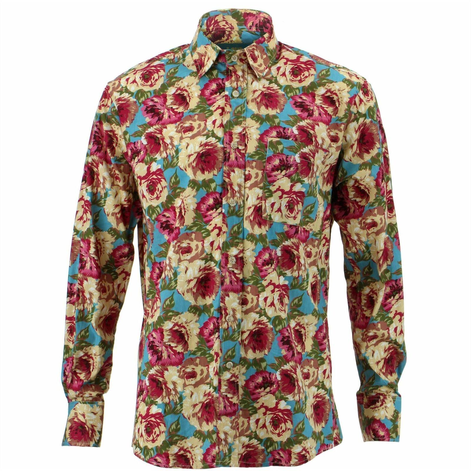 Mens Shirt Loud Originals REGULAR FIT  Floral Retro Psychedelic Fancy