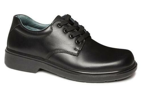 Clarks Daytona Senior Black Leather School Shoes Lightweight//Lace Ups