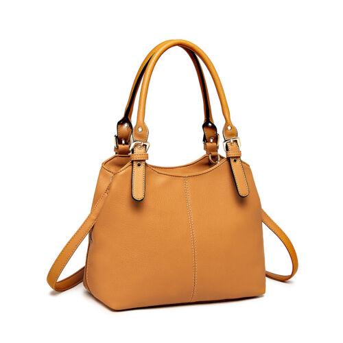Ladies Designer PU Leather Handbag classic Tote Multi Compartment Shoulder Bag