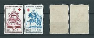 CROIX-ROUGE-1960-YT-1278-a-1279-TIMBRES-NEUFS-LUXE