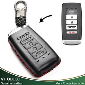 Vitodeco Leather Remote Key Fob Case For 2016 2019 Acura Rdx Mdx