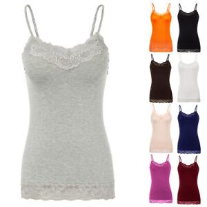 Women-Basic-Cami-Camisole-Lace-Trim-Spaghetti-Strap-Tank-Top-Tunic-Blouses-S-2XL