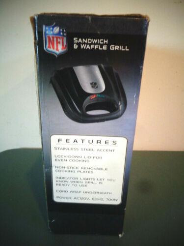 NFL HOUSTON TEXANS SANDWICH & WAFFLE GRILL STAINLESS SERIES NIOB PANGEA BRANDS