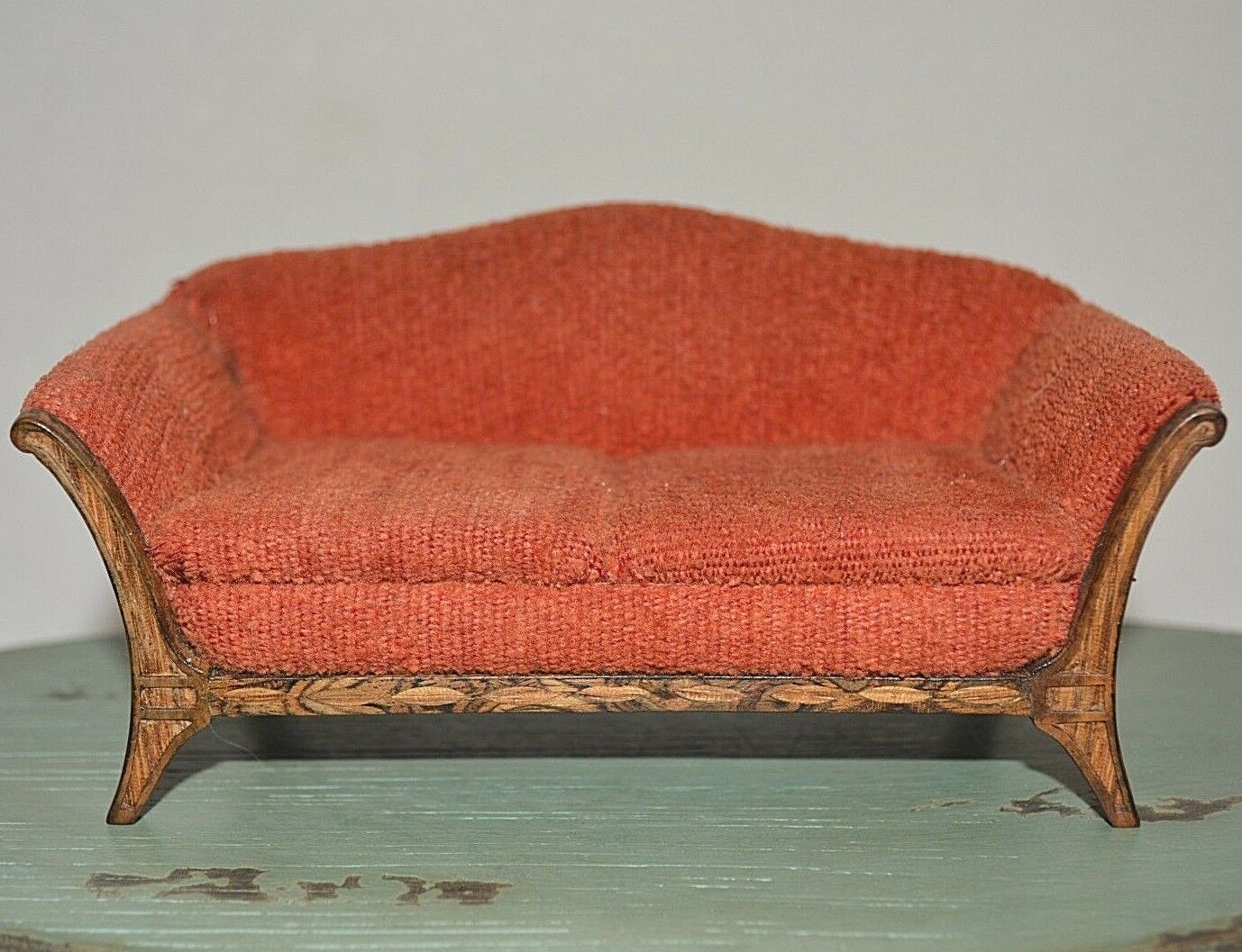 Dollhouse Miniature Sofa Couch 1:12 Vintage