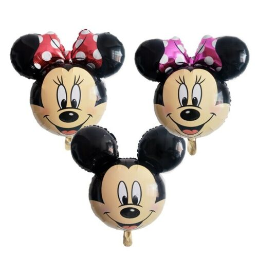 Disney Mickey Minnie Mouse 18/'/' Printed Face Birthday Foil Helium Balloons