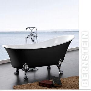 Baignoire, baignoire sur pieds avec robinetterie,modèle 2012, noir ...