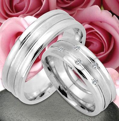 2 Ringe Trauringe Eheringe Dr Mit 5 Steine , Silber 925 , Gravur Gratis , Jk41-5 Jahre Lang StöRungsfreien Service GewäHrleisten