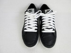 hot sale online c3e83 80abc Details about Nike Womens 8.5 Dunk Low Canvas Shoes Black Silver White  Athletic Sneakers