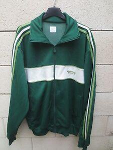 6420369ac0 Veste ADIDAS ORIGINAL SPORT rétro vintage vert tracktop jacket ...