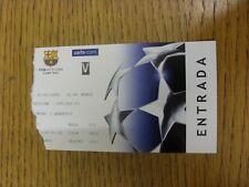 07/03/2006 Ticket: Barcelona v Chelsea [Champions League] (tatty tear to edge).