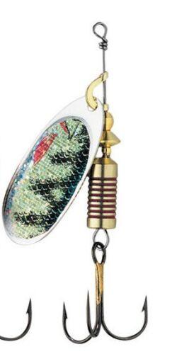 Barsch Perch DAM EFFZETT FZ Nature Spinner verschiedene Größen Art.-No 5130