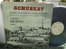 SCHUBERT: Piano sonata n°15, D.840 etc...  Richter / Le Chant du Monde LP exc