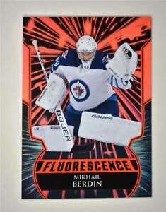 2020-21 UD Series 2 Flouresence Red #F-34 Mikhail Berdin RC- Winnipeg Jets