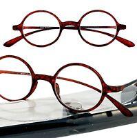 +5.00 2 Pairs Tortoise Round Flexie Tr 90 Calabria Reading Glasses Case