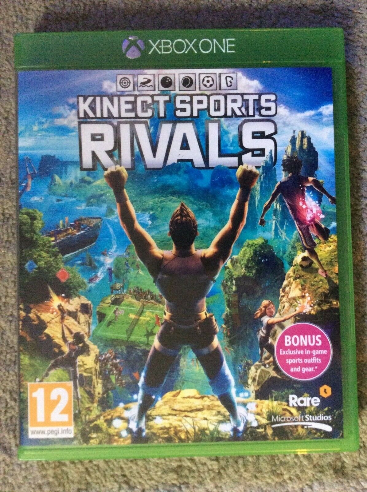 Official Microsoft Xbox One Kinect Motion Sensor with Sports Rivals game