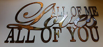 All of Me Loves All of You Metal Wall Art Accents Large Polished Steel
