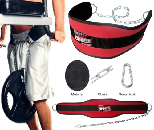 Chain Weight Belt with chain Pull up Weight lifting Home Back Support Grip Belt