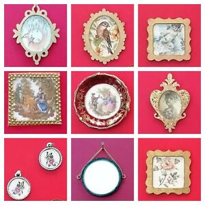 Miniature-1-12th-scale-dolls-house-PICTURES-AND-MIRRORS-various