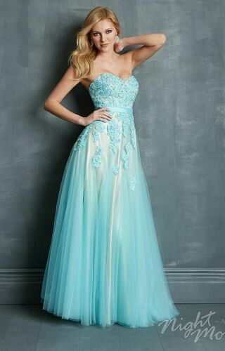 Embroidered Tulle Ball Gown Women's XS