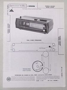 Sams-Photofact-Folder-Radio-Parts-Manual-General-Electric-C4332C-Flip-Clock