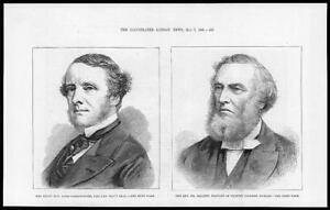 1881-Antique-Print-PEOPLE-Lord-Carlingford-Privy-Seal-Reverend-Jellett-80