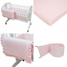 White TL Care Heavenly Soft Minky Dot 3 Piece Cradle Set for Boys and Girls