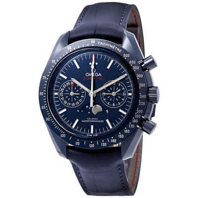Omega Speedmaster Blue Ceramic Dial Automatic Men's Moonphase Watch
