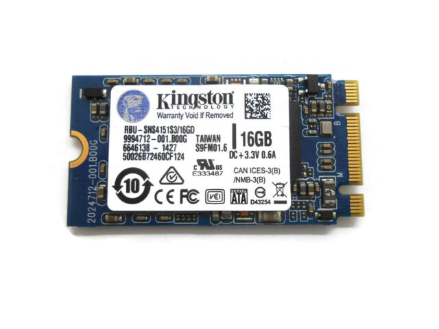 Kingston 16GB M.2 NGFF 2242 SSD SNS415S3//16GD Solid State Drive 42mm