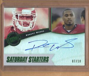 2013-PressPass-Bills-ROBERT-WOODS-Auto-Rookie-07-10-only-10-made-Rare