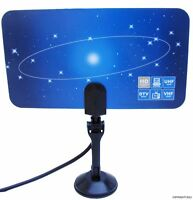 New Digital Flat TV indoor  HDTV VHF UHF Antenna ATSC air ,4 Tuner PC Card HD