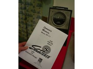 Franc Owners Manual Vintage Conn Strobotuner Modèle St-6-afficher Le Titre D'origine