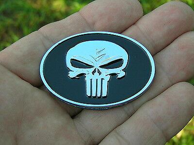 "PUNISHER 2/"" Chrysler Replacement CAR EMBLEM Metal 50mm Badge *NEW /& UNIQUE"