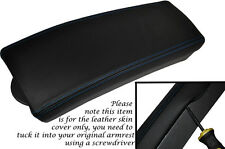 BLUE STITCHING FITS TOYOTA PRIUS T3 T4 2009-2012 LEATHER ARMREST SKIN COVER ONLY