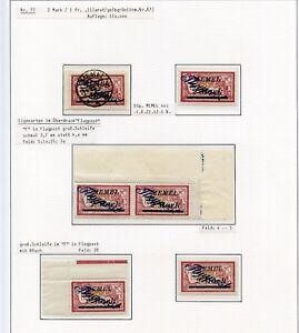 Memel-Flugpost-Nr-77-Studie-auf-3-Seiten-alle-PF-ZS-Einheiten-ansehen-C0118
