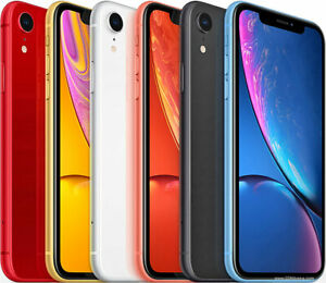 Apple-iPhone-Xr-64-128-256gb-AT-amp-T-Black-Red-Yellow-Blue-White-Coral