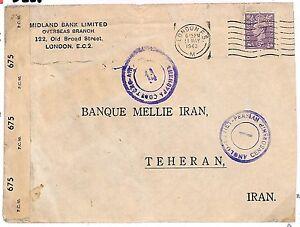 S225 1943 Persia GB London WW2 {samwells-covers}PTS