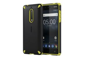 timeless design 1415d a8189 Details about Official Nokia 5 Lemon Black Rugerised Protective Shell Case  - CC-502