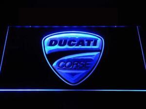 Ducati motor cycle banner man cave flag wall hanging sign bar Mancaveideas