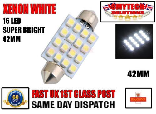 Large 16 LED Interior Light New Bright Xenon White MERCEDES BENZ SPRINTER 42mm