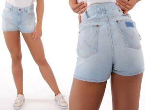 Wrangler-Damen-Jeans-Shorts-Retro-70-039-S-Blau-B-amp-Y-Chill-XS-S-M-L