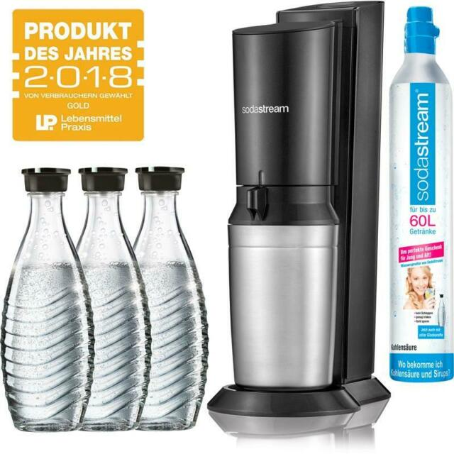 SodaStream Wassersprudler Crystal 2.0 inkl. 1x Co² Zylinder 3x Glaskaraffen