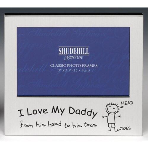 "J/'aime mon papa photo cadre photo 5/"" x 3.5/"" free-permanent laque-coated"