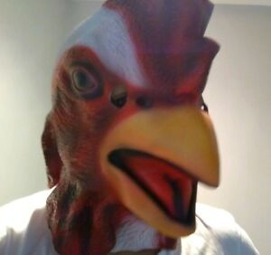 Rooster-latex-Mask-adult-Over-Head-chicken-hen-Animal-Costume-Accessory-1-size