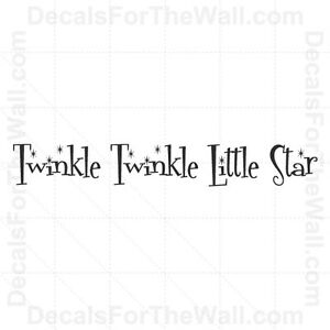 Details about Twinkle Little Star Baby Boy Girl Wall Decal Vinyl Art  Sticker Quote Decor K13